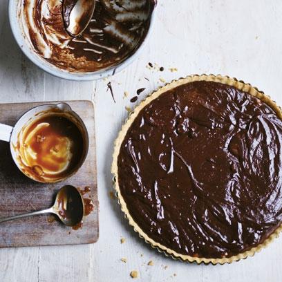 ... chocolate, chilli caramel and macadamia tart | Chocolate Recipes - Red