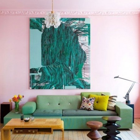 Pink and green interior inspiration