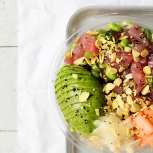Brown Rice, Tuna, Ginger and Avocado Poké