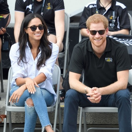 Prince Harry and Meghan Markle enjoy afternoon tea with the Queen