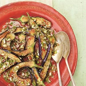 Marinated aubergine recipe