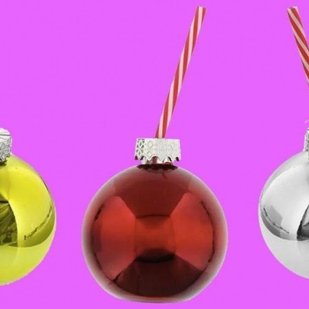 these fill your own boozy baubles are just 99p red online. Black Bedroom Furniture Sets. Home Design Ideas