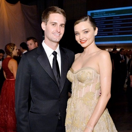 Miranda Kerr is expecting her first child with husband Evan Spiegel