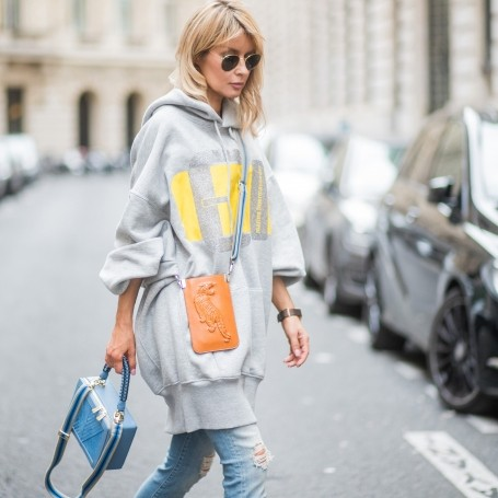 The flattering way to wear oversized jumpers