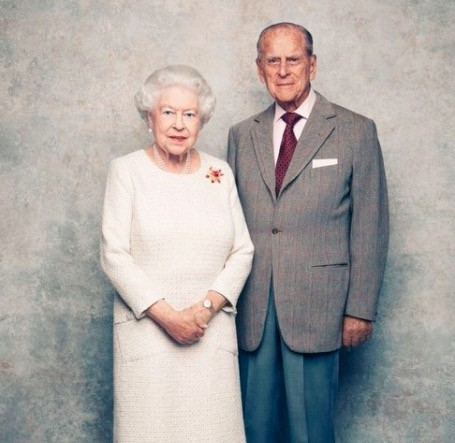 The Queen and Prince Philip have released new portraits