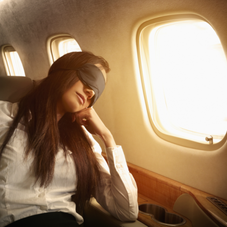 This is the best way to get past a sleeping neighbour on a flight