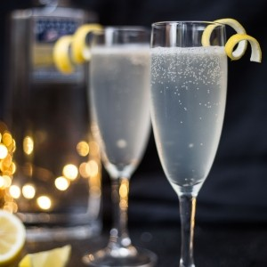 French 75 gin cocktail