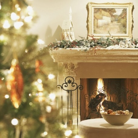 Kelly Hoppen's guide to decorating your fireplace for Christmas