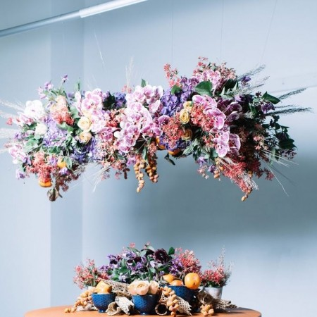 Trend alert flower walls are out floral chandeliers are in red john cirone aloadofball Gallery