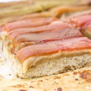 Livia's Kitchen Gluten Free Rhubarb Shortbread Slice