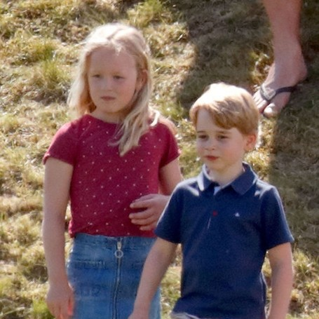 Prince George was pushed down a hill by his cousin Savannah Phillips