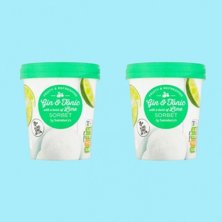 Sainsbury's is now selling Gin & Tonic sorbet for just £2