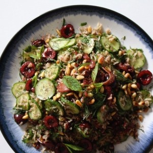 High Mood Food's Persian rice salad with cherries