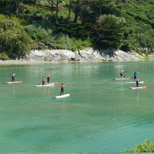 Paddleboarding Crantock Bay Surf School, Newquay