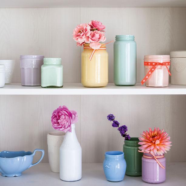 Craft Ideas Empty Jam Jars: How To Make Jam Jar Vases