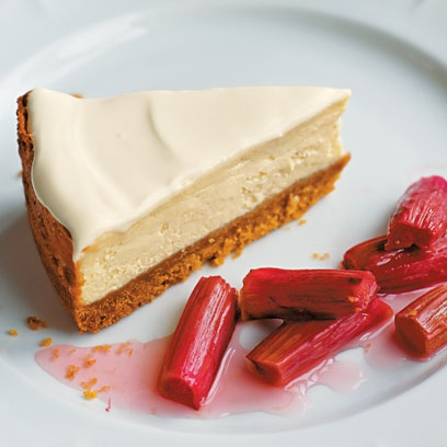 Rhubarb And Ginger Cheesecake Bake Off